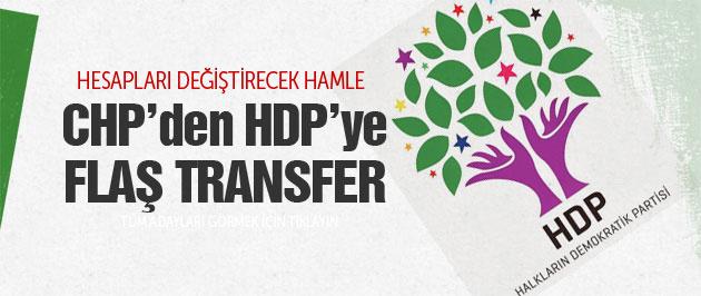CHP'den HDP'ye flaş transfer