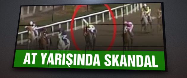 At yarışında skandal olay