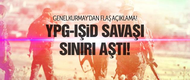 YPG-IŞİD savaşı sınırı aştı TSK roket attı!