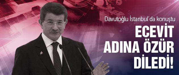 Davutoğlu Ecevit için özür diledi!