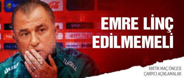 Fatih Terim'den Emre Belözoğlu açıklaması