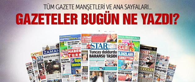 Gazete manşetleri 28 Mart 2015