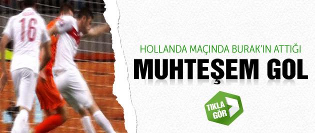 Hollanda-Türkiye maçında Burak'ın golü