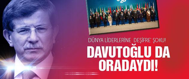 Başbakan Davutoğlu ve G20 liderlerine deşifre şoku