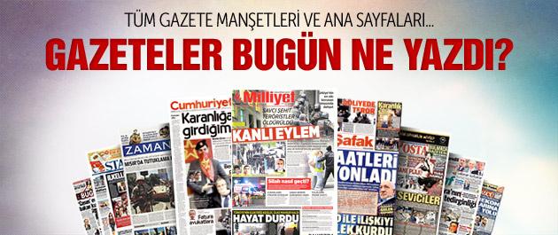 Gazete manşetleri 1 Nisan 2015