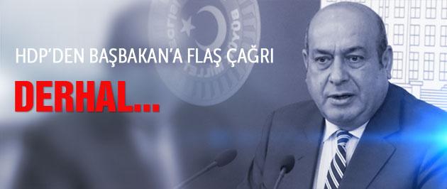 HDP'den Başbakan'a flaş çağrı: Derhal...