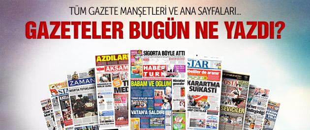 Gazete manşetleri 2 Nisan 2015