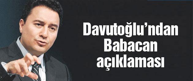 Davutoğlu'ndan son dakika Ali Babacan açıklaması