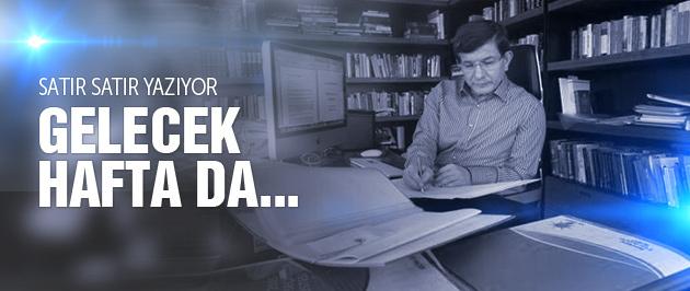 Davutoğlu'nun çalışma ofisinden ilk kare