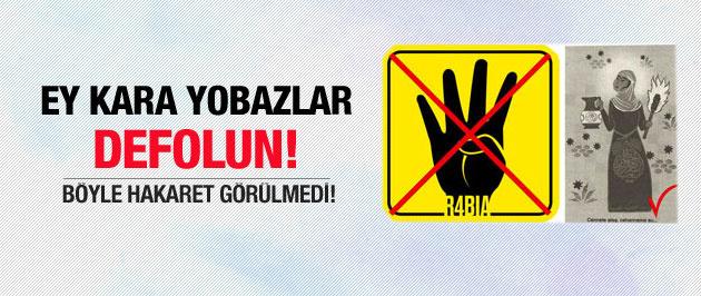 Rabia İşareti üzerinden İslam'a hakaret!