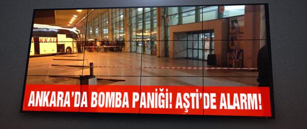 AŞTİ'de bomba alarmı!