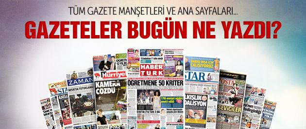 Gazete manşetleri 19 Nisan 2015