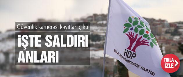 İşte HDP Genel Merkezi'ne saldırının kamera kayıtları!