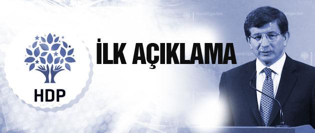 Davutoğlu'ndan son dakika HDP'ye saldırı açıklaması!