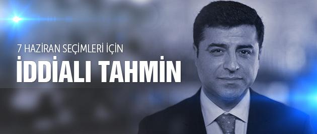 Genel seçim sonuçları Demirtaş'tan iddialı tahmin