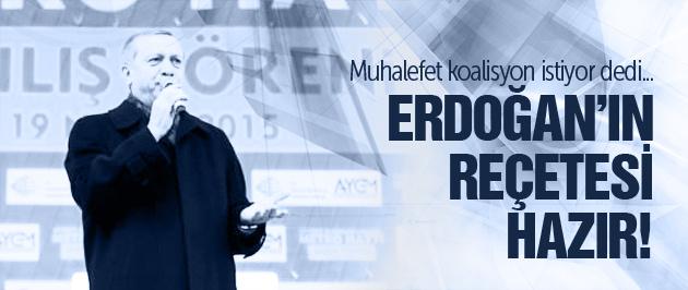 Erdoğan'dan muhalefete tepki!