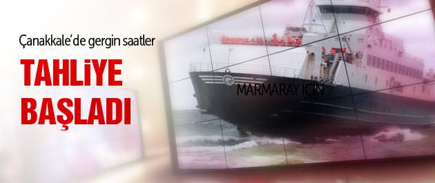 Çanakkale'de feribot karaya oturdu!