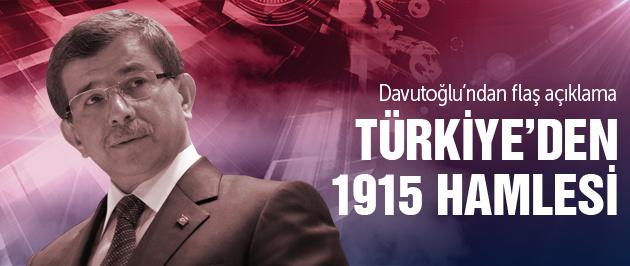 Davutoğlu'ndan 1915 açıklaması!