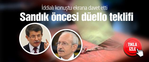 Kılıçdaroğlu'ndan Davutoğlu'na düello teklifi!