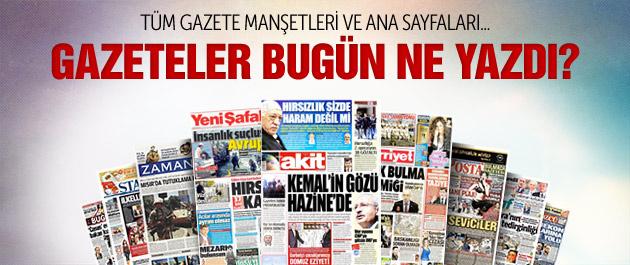 Gazete manşetleri 21 Nisan 2015