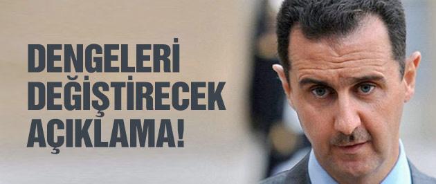 Esad'dan dengeleri değiştirecek açıklama!
