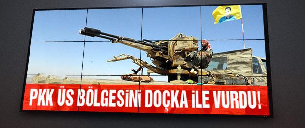 PKK askeri üs bölgesini doçka ile vurdu!
