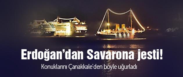 Erdoğan'dan Savarona'da yemek!