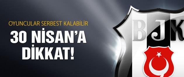 Beşiktaşlı oyuncular serbest kalıyor!