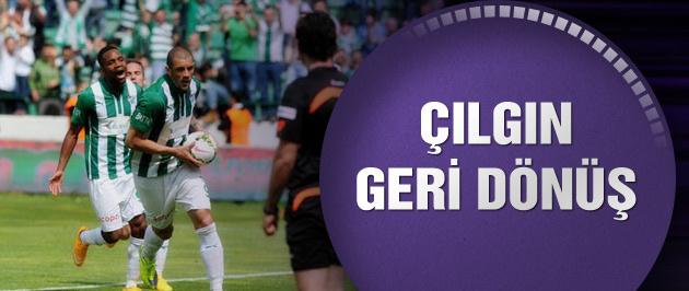 Bursaspor'dan çılgın geri dönüş