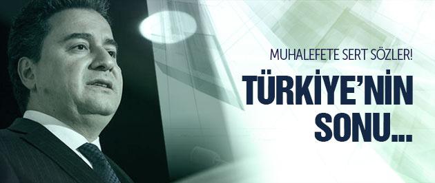 Babacan: Türkiye'nin sonu Yunanistan'a benzer