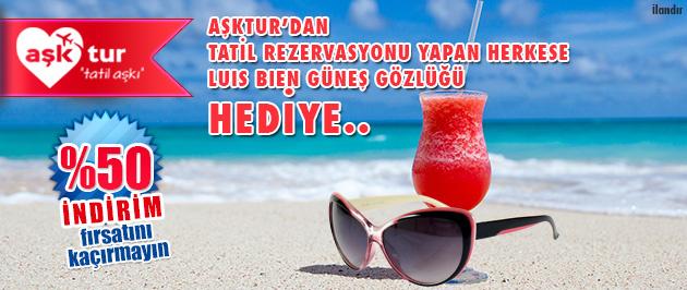 Tatil rezervasyonu yapan herkese güneş gözlüğü!