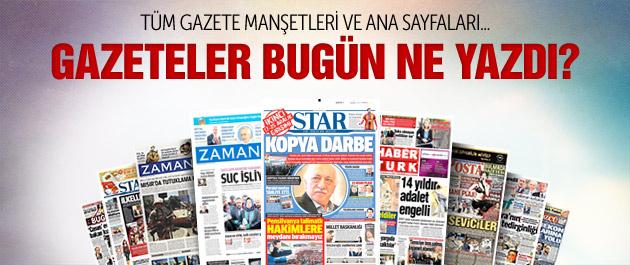 Gazete manşetleri 27 Nisan 2015