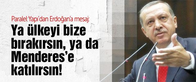 Paralel Yapı'dan Erdoğan'a net mesaj!
