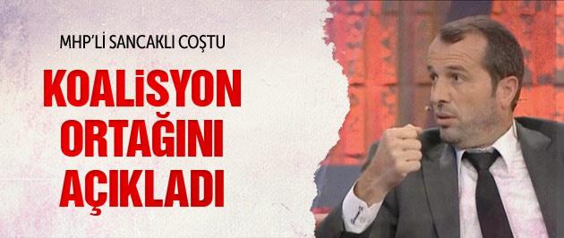 MHP'li Saffet Sancaklı koalisyon ortağını açıkladı