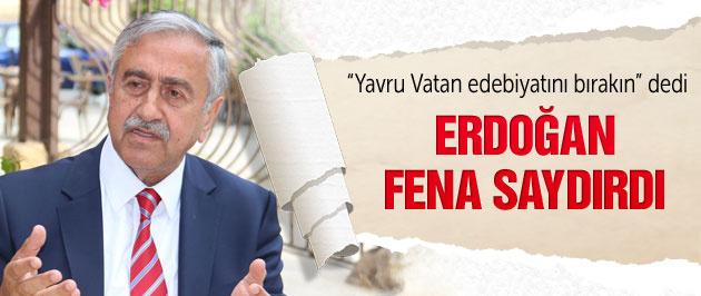 Erdoğan'dan KKTC Cumhurbaşkanı'na şok sözler