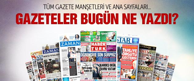 Gazete manşetleri 28 Nisan 2015