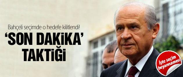 2015 genel seçimlerinde MHP'den son dakika taktiği