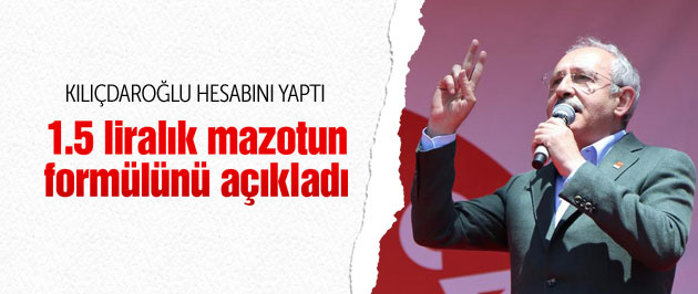 Kılıçdaroğlu 1.5 liralık mazotun formülünü açıkladı