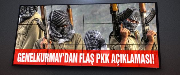 Genelkurmay'dan şok PKK açıklaması!