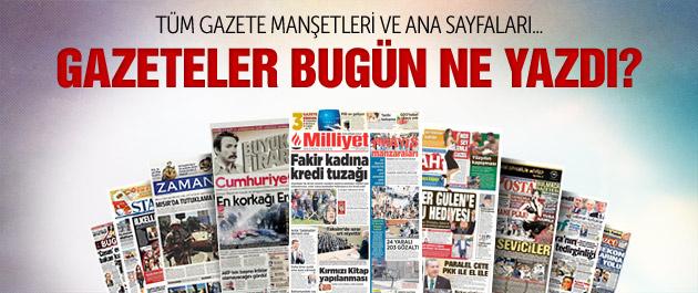 Gazete manşetleri 3 Mayıs 2015
