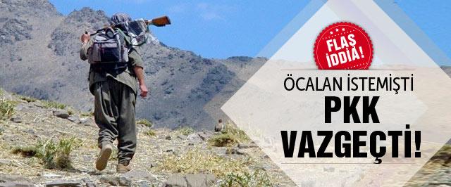Flaş iddia! Öcalan istedi PKK vazgeçti