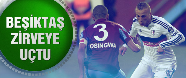 Beşiktaş Trabzonspor'u 2-0 mağlup etmeyi başardı