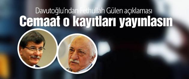 Davutoğlu'ndan Gülen açıklaması!