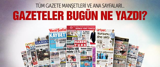 Gazete manşetleri 4 Mayıs 2015
