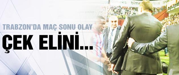 Trabzon'da maç sonu olay çıktı