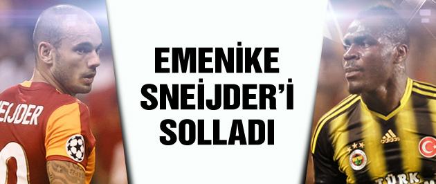Emenike Sneijder'i solladı