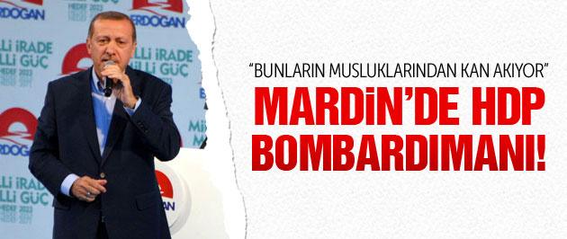 Erdoğan Mardin'de HDP'ye saydırdı!