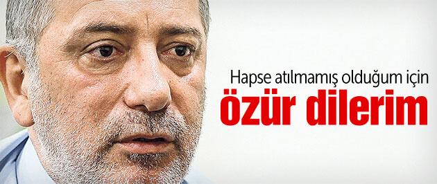 Fatih Altaylı: 'Hapse atılmamış olduğum için özür dilerim'