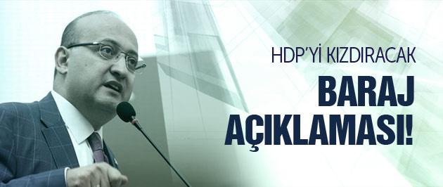 Akdoğan'dan HDP'yi kızdıracak baraj açıklaması!