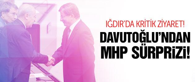 Davutoğlu'ndan MHP sürprizi! Iğdır'da kritik ziyaret!